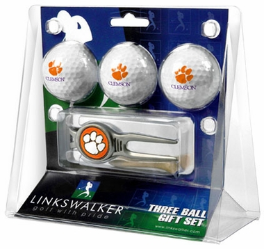 Clemson 3 Ball Gift Pack With Kool Tool