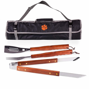 Clemson 3 Piece BBQ Tote (Black)