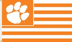 Clemson 3' x 5' Flag (Stripes) (F)