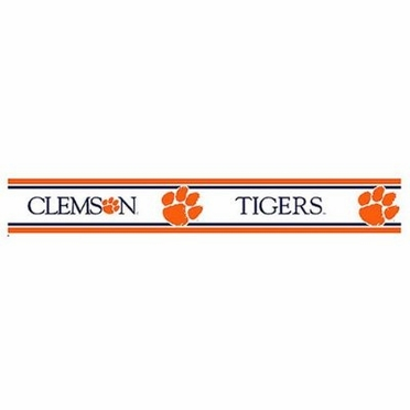 Clemson 5.5 Inch (Height) Wallpaper Border