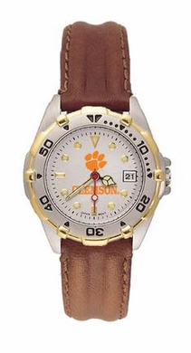 Clemson All Star Womens (Leather Band) Watch