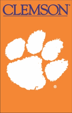 Clemson Applique Banner Flag
