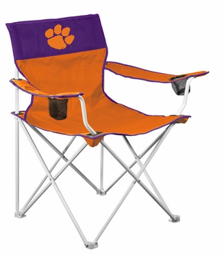 Clemson Big Boy Adult Folding Logo Chair