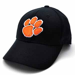 Clemson Black Premium FlexFit Baseball Hat - Small / Medium