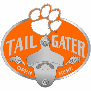 Clemson Bottle Opener Hitch Cover