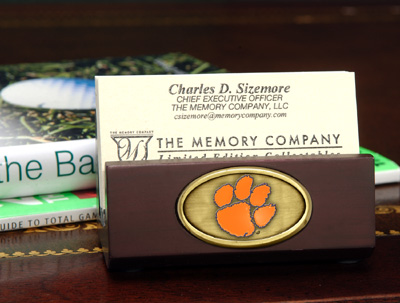 Clemson Business Card Holder