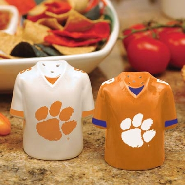 Clemson Ceramic Jersey Salt and Pepper Shakers