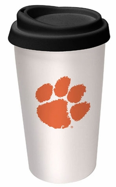 Clemson Ceramic Travel Cup