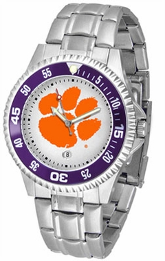 Clemson Competitor Men's Steel Band Watch