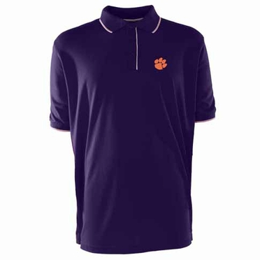 Clemson Mens Elite Polo Shirt (Team Color: Purple)