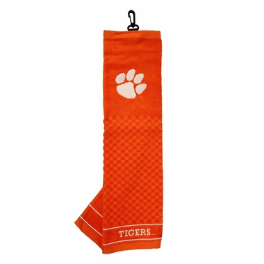 Clemson Embroidered Golf Towel