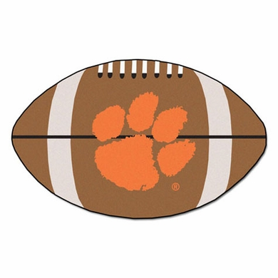 Clemson Football Shaped Rug