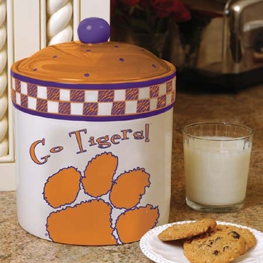 Clemson Gameday Ceramic Cookie Jar