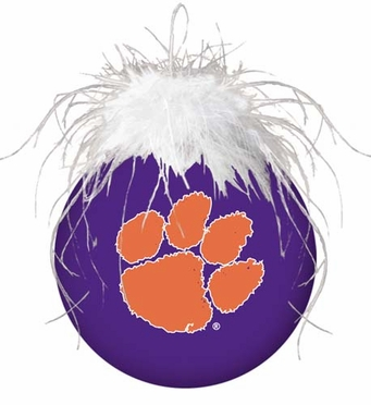 Clemson Glass Ball Ornament