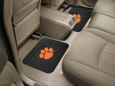 Clemson SET OF 2 Heavy Duty Vinyl Rear Car Mats