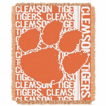 Clemson Jacquard Woven Throw Blanket