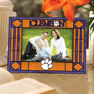 Clemson Landscape Art Glass Picture Frame