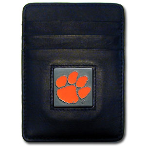 Clemson Leather Money Clip (F)