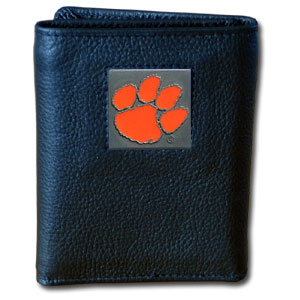 Clemson Leather Trifold Wallet (F)