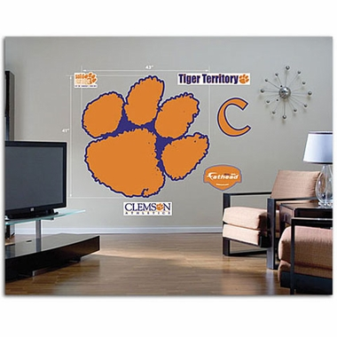 Clemson Logo Fathead Wall Graphic