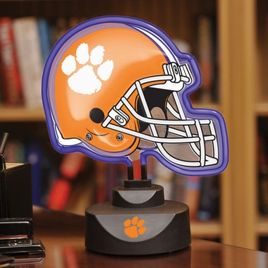 Clemson Neon Display Helmet