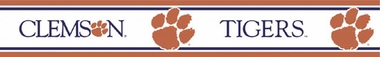 Clemson Peel and Stick Wallpaper Border