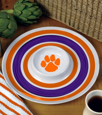 Clemson Plastic Chip and Dip Plate