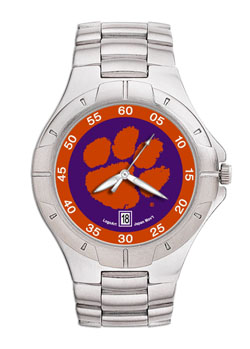 Clemson Pro II Men's Stainless Steel Watch