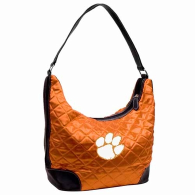 Clemson Quilted Hobo Purse