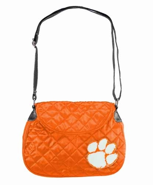 Clemson Quilted Saddlebag