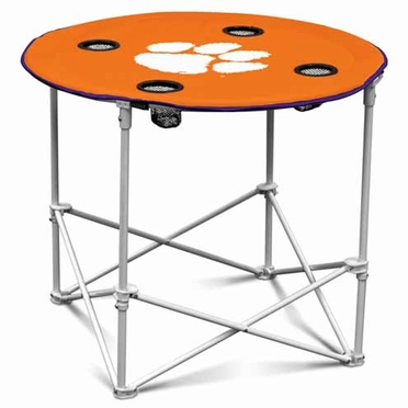 Clemson Round Tailgate Table