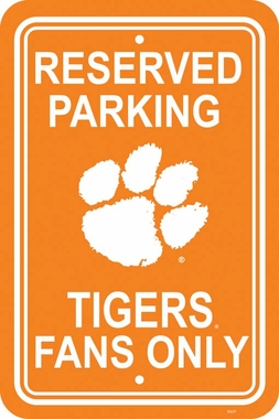 Clemson Plastic Parking Sign (P)