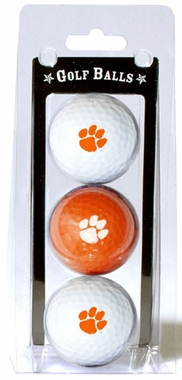 Clemson Set of 3 Multicolor Golf Balls