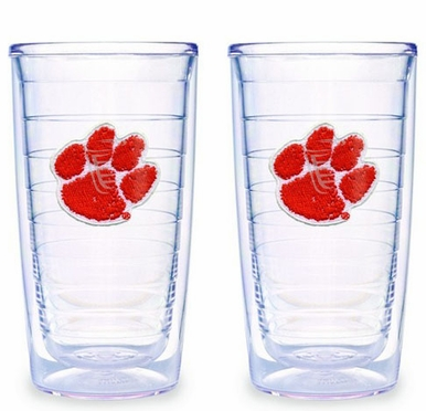 Clemson Set of TWO 16 oz. Tervis Tumblers