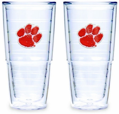 Clemson Set of TWO 24 oz. Tervis Tumblers