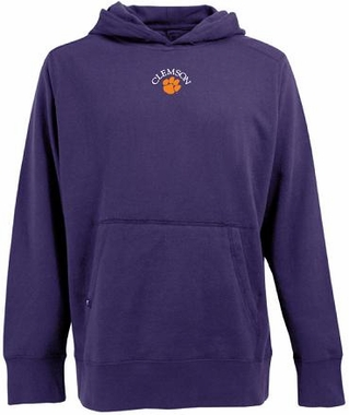 Clemson Mens Signature Hooded Sweatshirt (Team Color: Purple)
