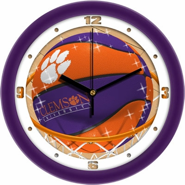 Clemson Slam Dunk Wall Clock