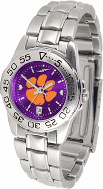 Clemson Sport Anonized Women's Steel Band Watch