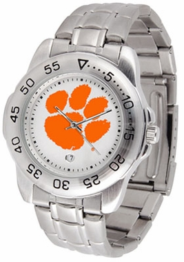 Clemson Sport Men's Steel Band Watch