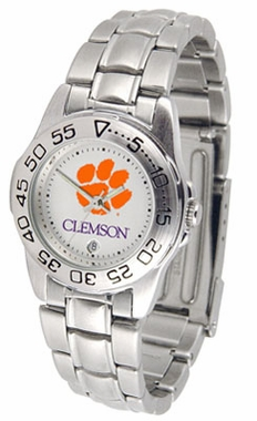 Clemson Sport Women's Steel Band Watch
