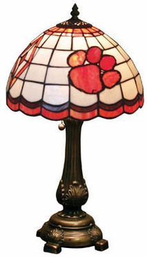 Clemson Stained Glass Table Lamp