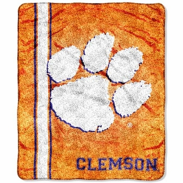 Clemson  Super-Soft Sherpa Blanket