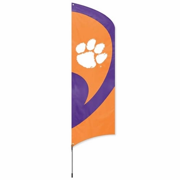 Clemson Tall Team Flag