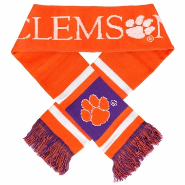 Clemson Tigers 2012 Team Stripe Knit Scarf