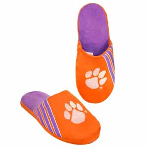 Clemson Tigers 2012 Team Stripe Logo Slippers - Large