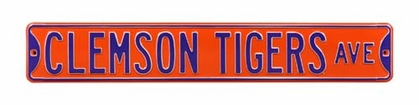 Clemson Tigers Ave Street Sign