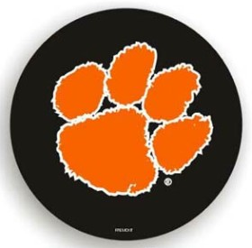 Clemson Tigers Black Spare Tire Cover (Small Size)