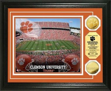 Clemson Tigers Clemson University Gold Coin Photo Mint