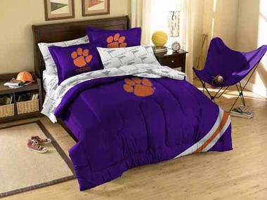 Clemson Twin Comforter and Shams Set