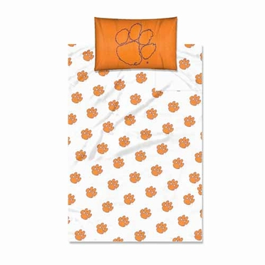 Clemson Twin Sheet Set